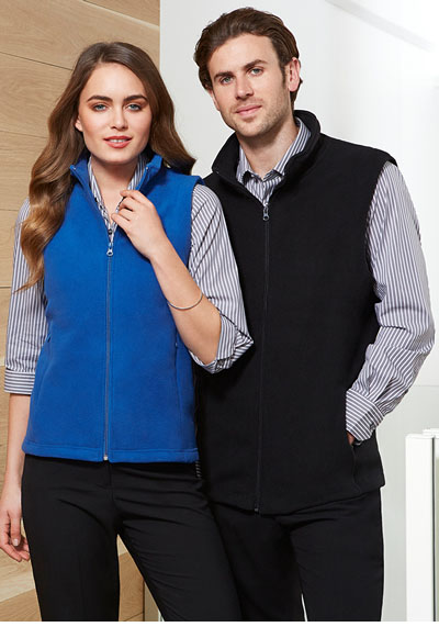 F233MN Men's Plain Microfleece Vest
