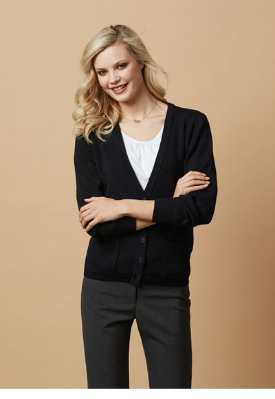 LC8008 Ladies Woolmix Cardigan